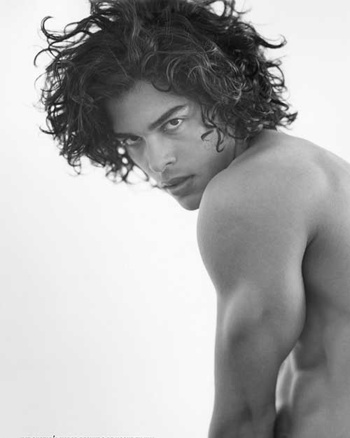 Mario Blanco Mens Long Curly Hairstyles