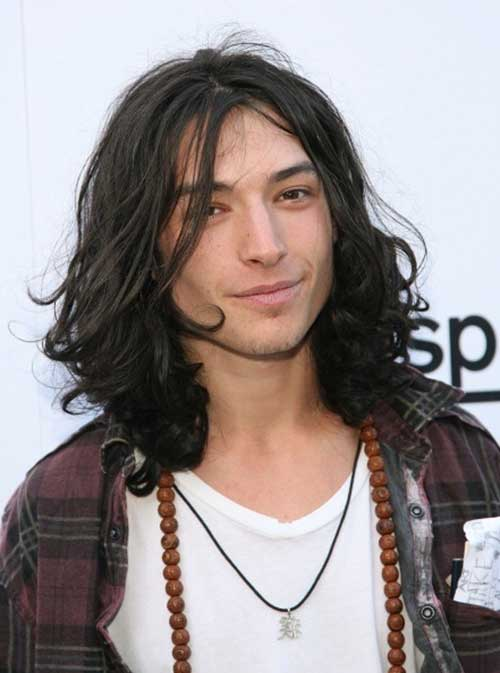 Ezra Miller Mens Long Hairstyles 2015