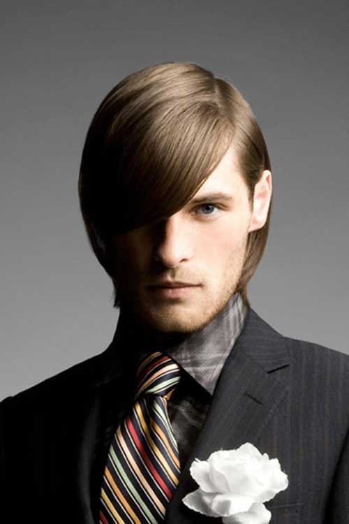 Retro Men's Long Straight Hairstyles