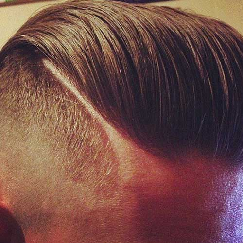 Hard Part Mens Shaved Sides Hairstyles