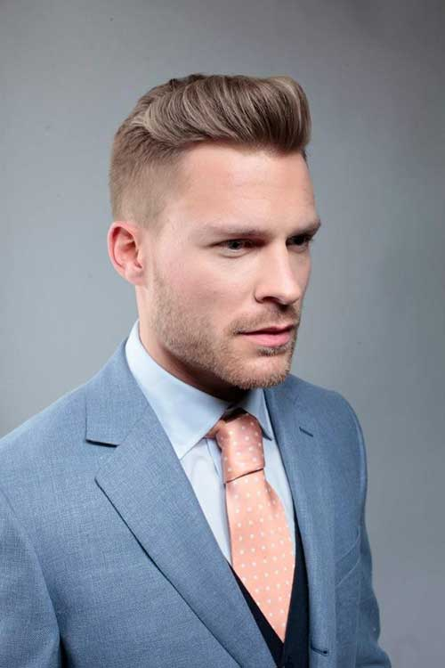 Mens Undercut with Slicked Back Hairstyle