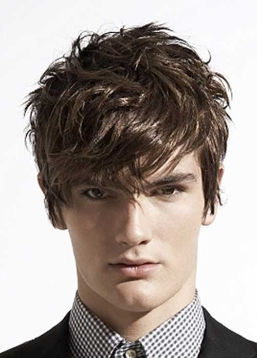 Messy Layered Hairstyles Men