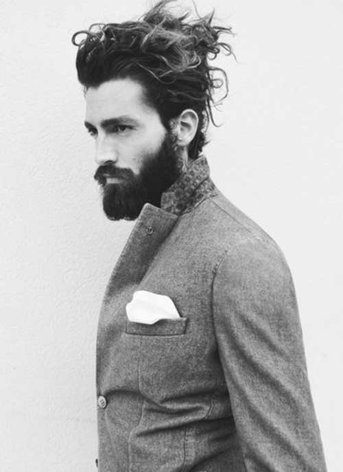 Messy Hairstyles for Men with Bun