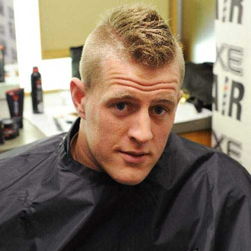 J.J. Watt Mohawk Haircuts for Men