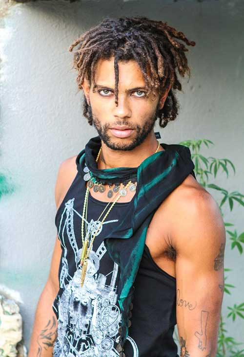 Natural Hairstyle Locs for Black Men