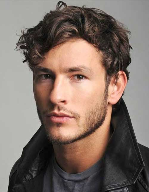 Parker Gregory Thick Curly Mens Hair