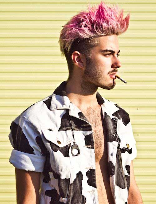 Cute Pink Hair Color for Men