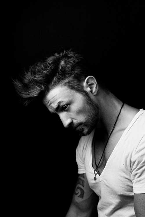 Messy Pompadour Hairstyle for Men 2014-2015
