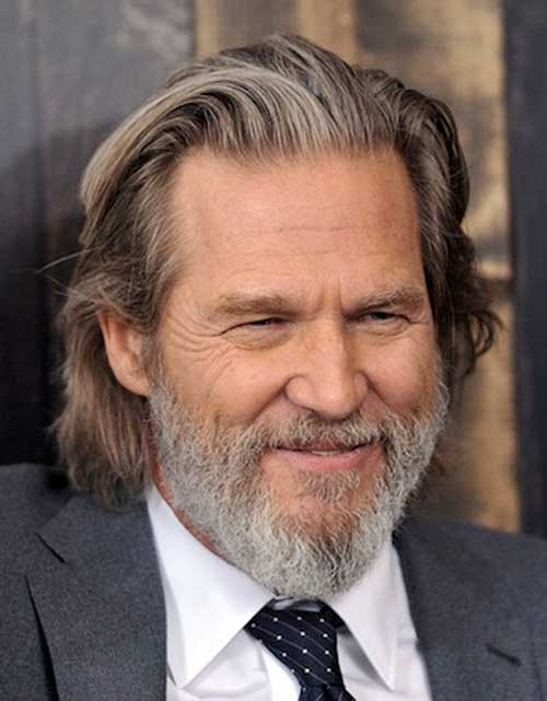 Jeff Bridges Senior Men's Hair Style