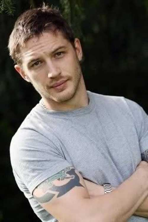 Tom Hardy Short Messy Hairstyles Men