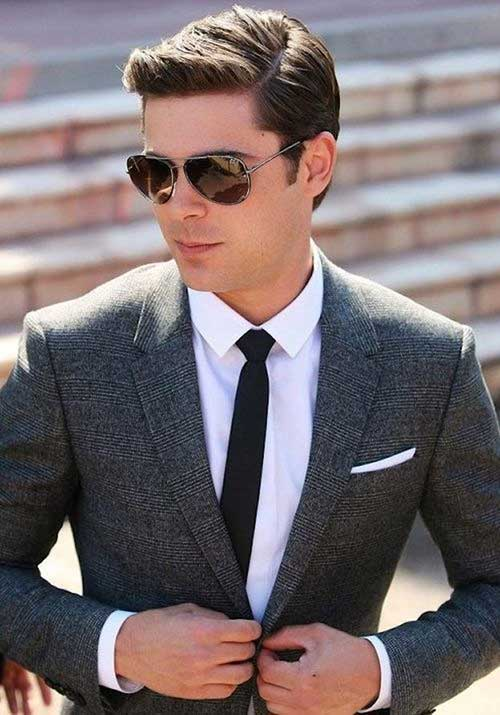 Side Parted Comb Over Hairstyle for Business Men
