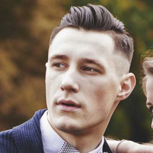 Side Shaved Short Haircuts for Men 2015