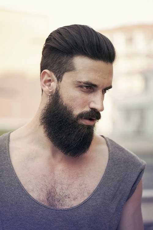 Slicked Back Latest Hairstyles for Men 2014-2015