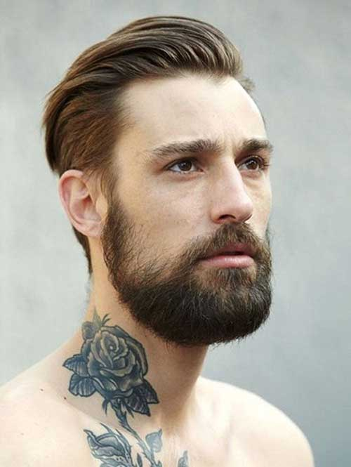 Slicked Back Straight Hairstyles for Guys