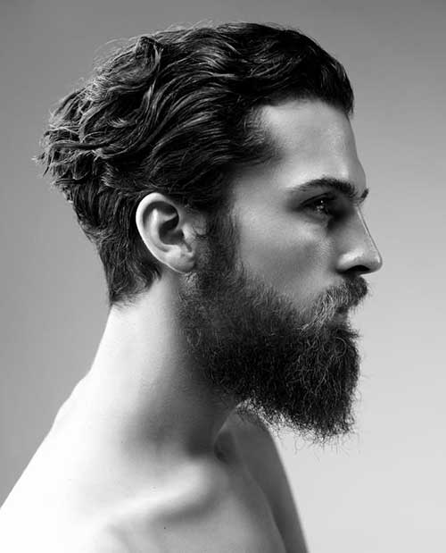 Slicked Back Wavy Hairstyles for Men