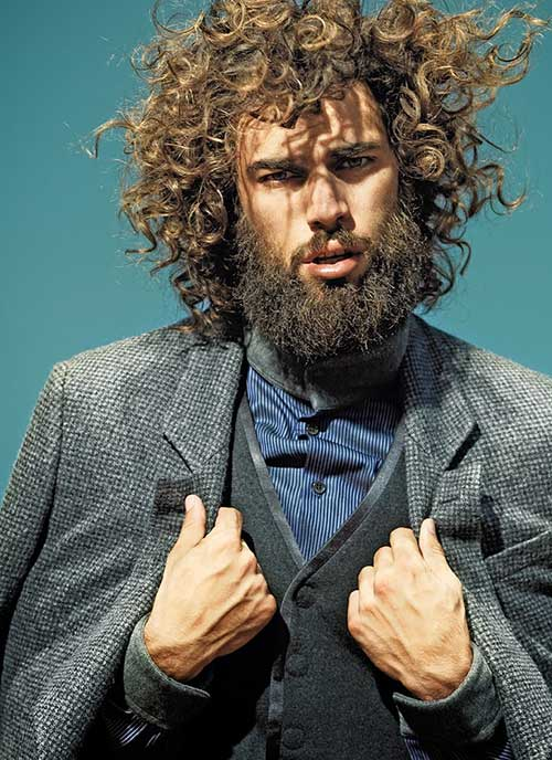 Spyros Christopoulos Messy Curly Hair
