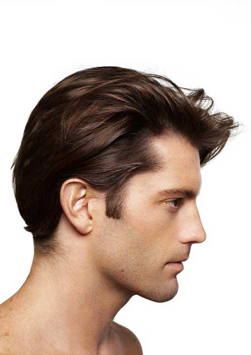 Medium Straight Hairstyles for Men