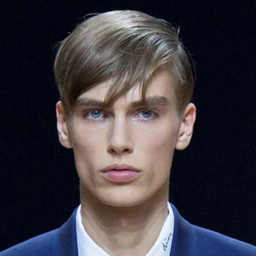 Straight Light Brown Fine Hair for Men