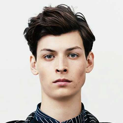 Thick Dark Brown Hairstyles for Men