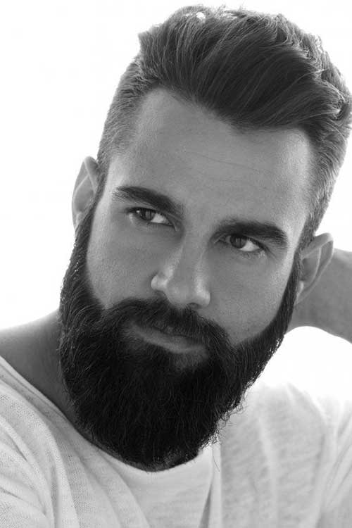 Latest Thick Dark Straight Hairstyles for Men 2014-2015