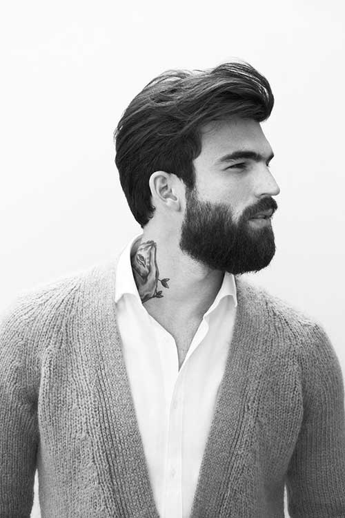 Latest Dark Thick Straight Hairstyles for Men