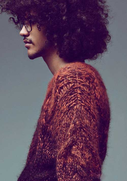 Yassine Rahal Afro Hairstyles for Men