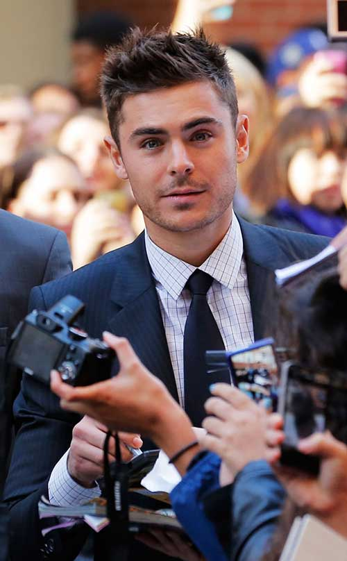 Zac Efron Short Hairstyles for Guys