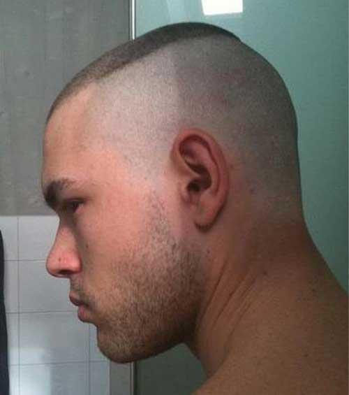 cut hair head marine shaved