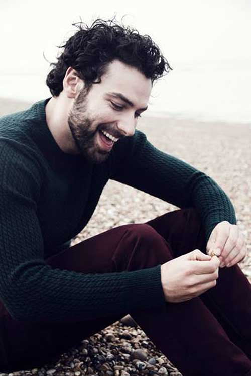 Aidan Turner Curly Hair for Guys