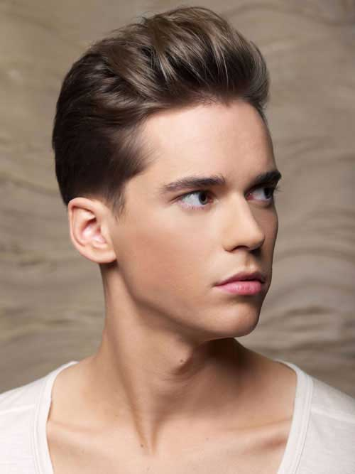 Ash Brown Slick Back Hair Color Men