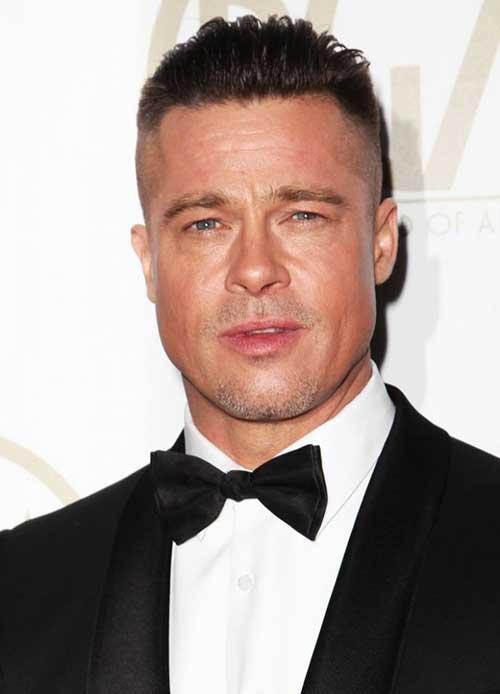 Brad Pitt Fade Short Hair