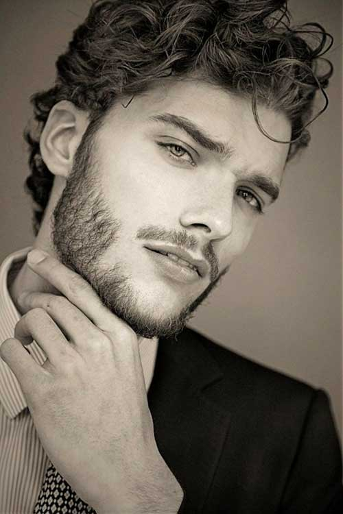 Guy with Curly Hairstyle