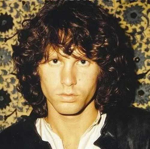 Jim Morrison Curly Hair Style