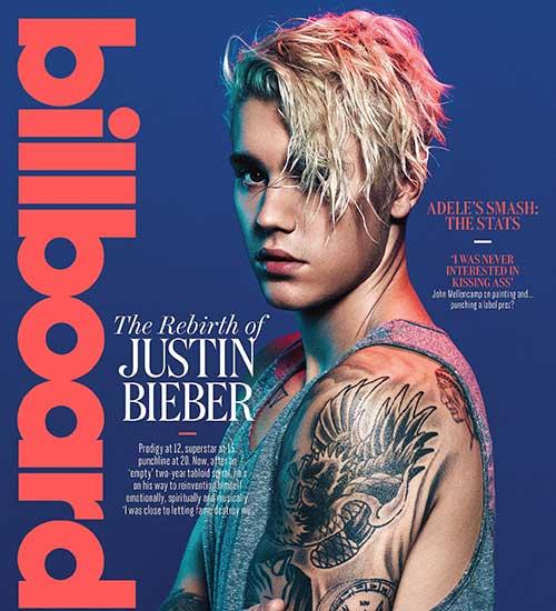 15 Justin Bieber with Blonde Hair