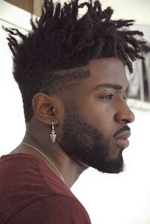 Mens Short Hair Fade with Locs