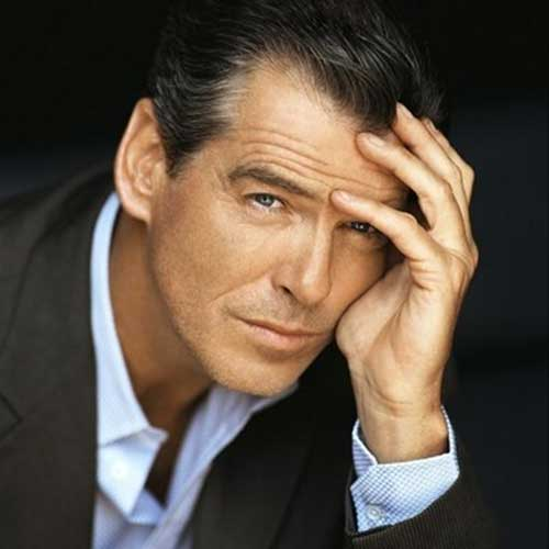 Pierce Brosnan Celeb Men Hair
