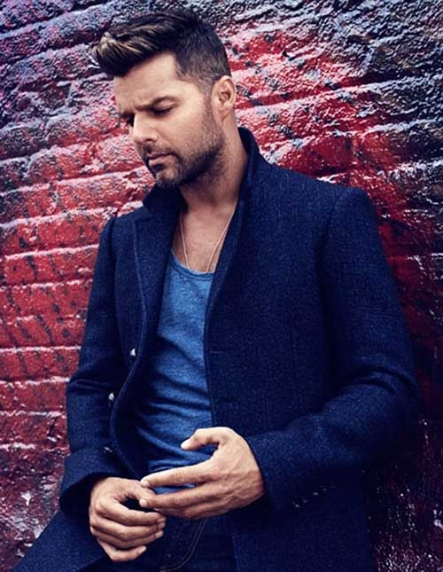 Ricky Martin Hairstyle for Men