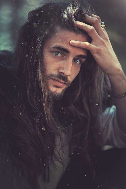 45 Long Hairstyles for Men-19