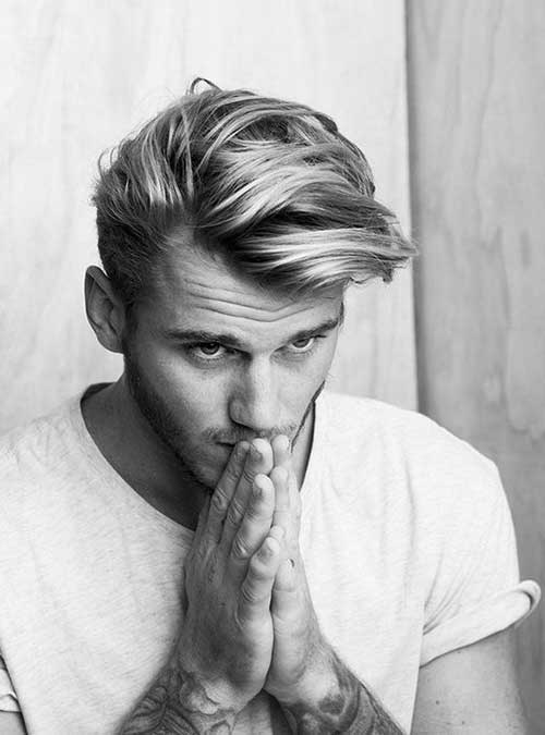 Mid Length Hairstyles for Men-37