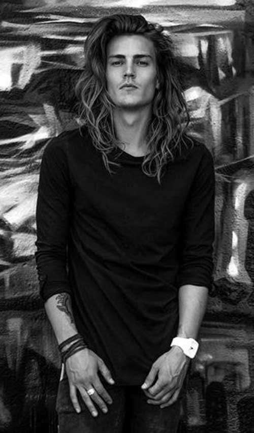 45 Long Hairstyles for Men-40