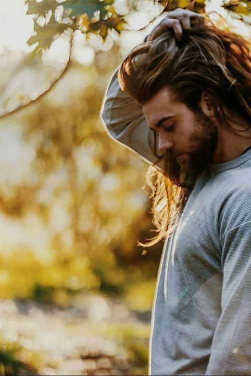 45 Long Hairstyles for Men-42