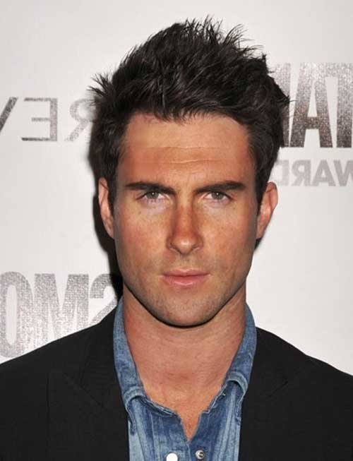 Adam Levine Spiky Men Hairstyles