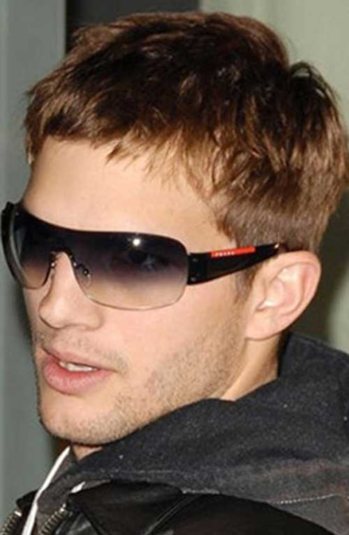 Ashton Kutcher Short Light Brown Hair