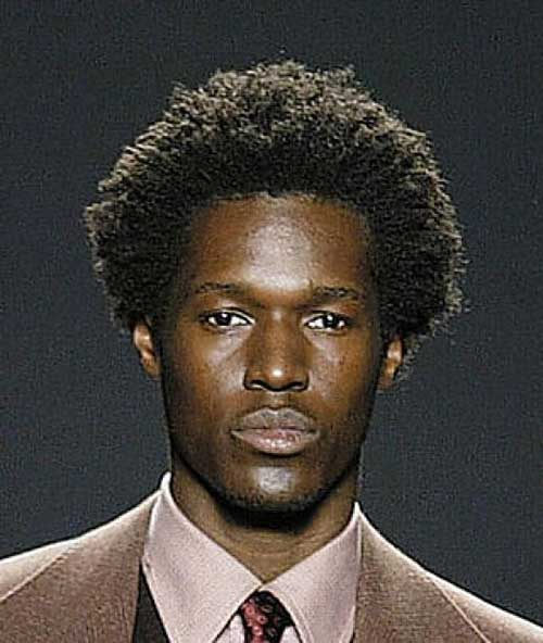 Curly Hair Black Men Styles
