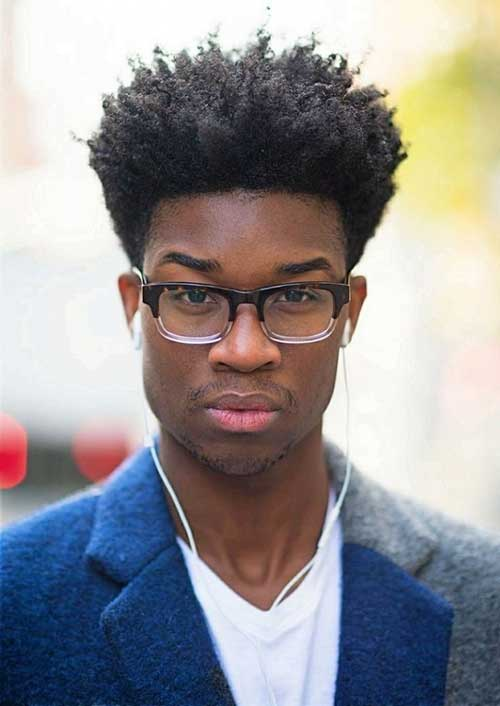 Cool Black Men Curly Hairstyle