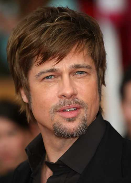 Brad Pitt Fringe Hairstyles for Men