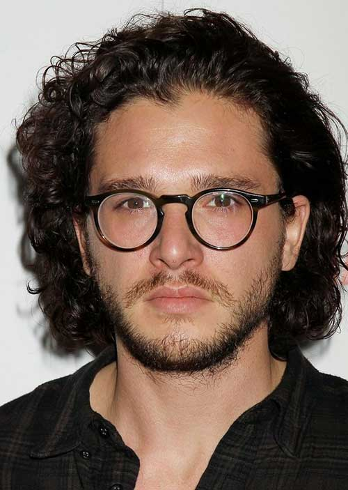 Celebrity Males with Medium Curly Hairstyles