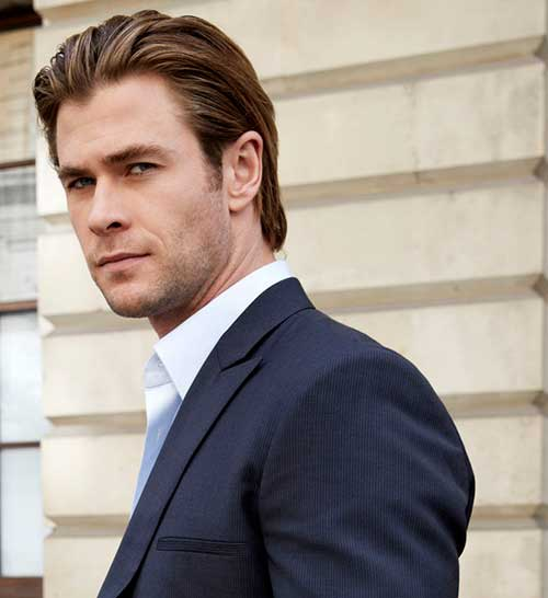 Chris Hemsworth Hollywood Style Men Hair
