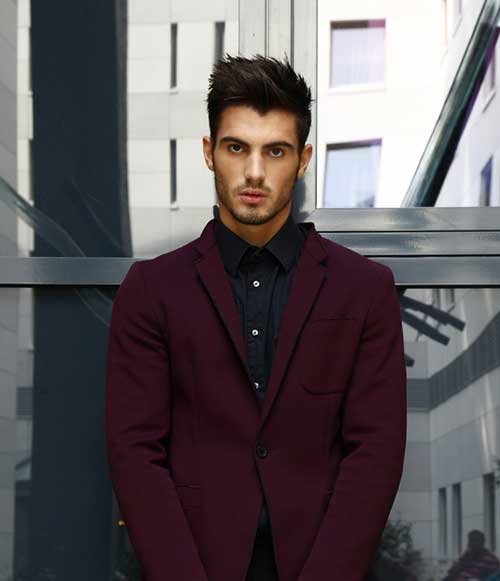 Classic Men Dark Brown Hair Color