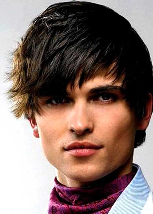 Men Best Straight Cool Short Hairstyle